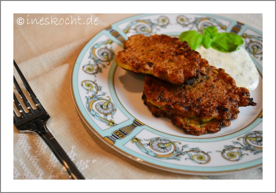 Ottolenghi´s Blumenkohlküchlein mit Kreuzkümmel und Limetten-Koriander-Joghurt