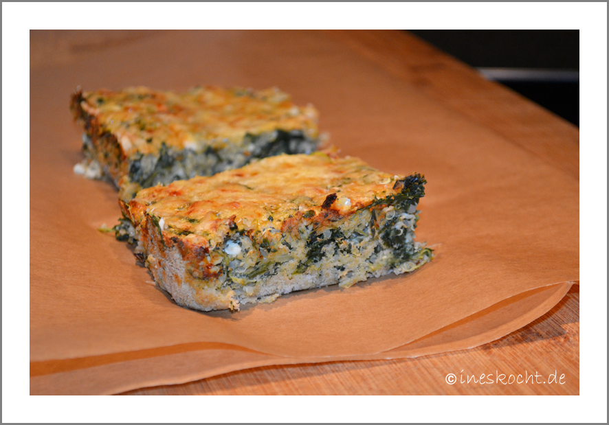 Quinoa-Spinat-Kuchen